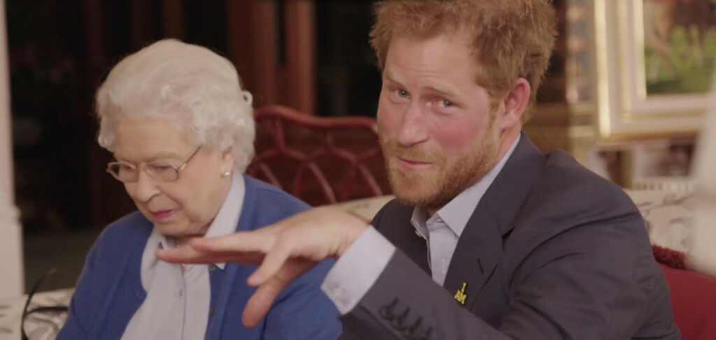 Prince Harry, Queen Elizabeth II