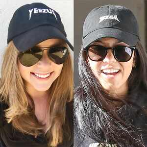 Carrie, Kourtney, Yeezus Hat