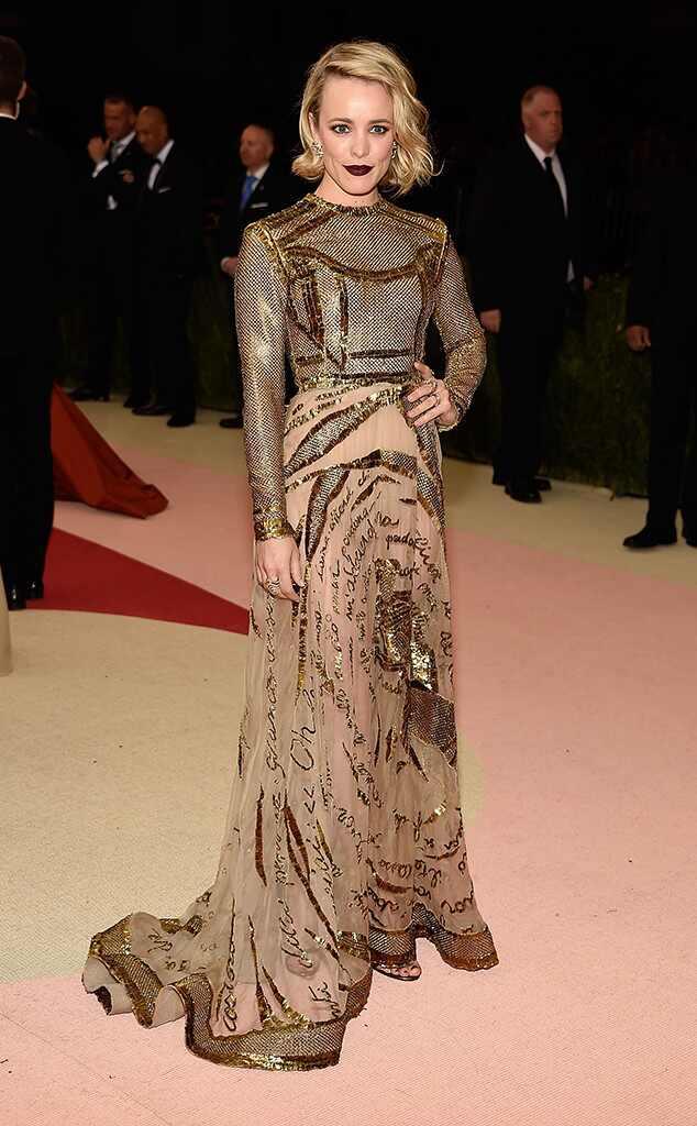 Met Gala 2016: Red Carpet Arrivals Rachel McAdams, MET Gala 2016, Arrivals