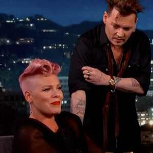 Pink, Johnny Depp, Jimmy Kimmel Live