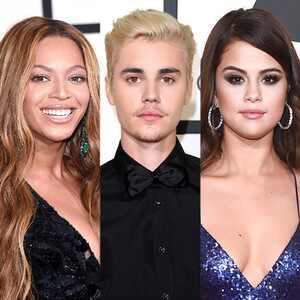 Selena Gomez, Justin Bieber, Beyonce