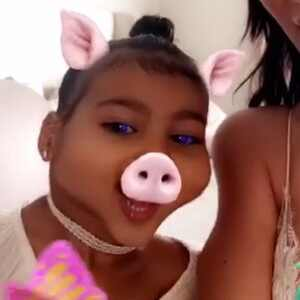 North West, Snapchat