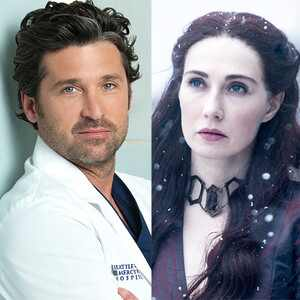 Patrick Dempsey, Derek Shepherd, Grey's Anatomy, Carice van Houten, Melisandre, Game of Thrones