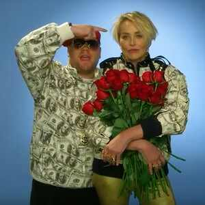 Sharon Stone, James Corden
