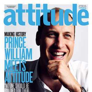 Príncipe William posa na capa da revista gay Attitude