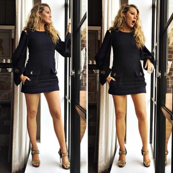 blake lively shows us the expectation vs reality of pregnancy spoiler alert she looks. Black Bedroom Furniture Sets. Home Design Ideas