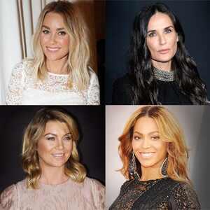 Lauren Conrad, Demi Moore, Ellen Pompeo, Beyonce Knowles