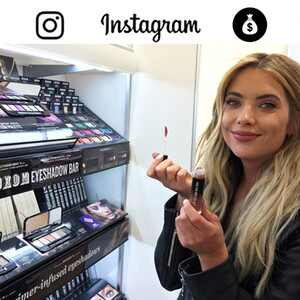 How Celebs Make Money on Instagram Graphic, Ashley Benson