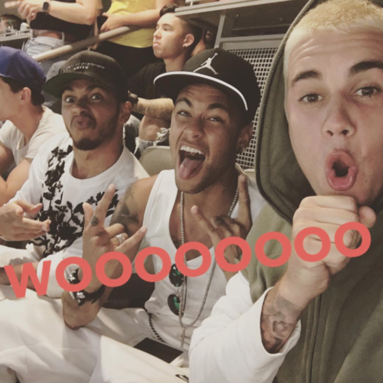 Neymar, Justin Bieber, Lewis Hamilton