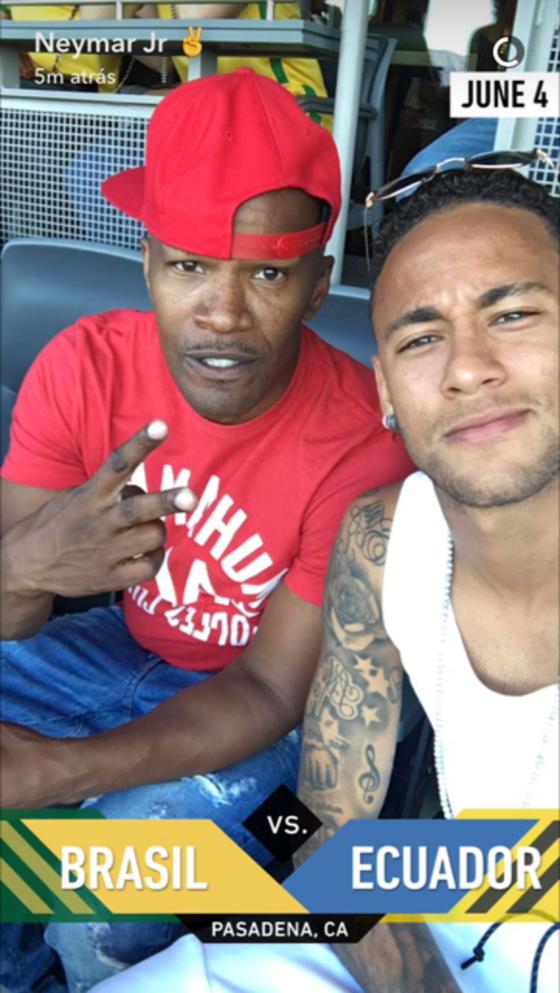 Neymar, Jamie Foxx
