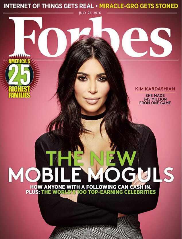 Kim Kardashian, Forbes Magazine