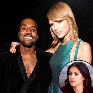 Kanye West, Taylor Swift, Kim Kardashian