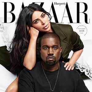 Kim Kardashian, Kanye West, Harper's Bazaar, September Issue