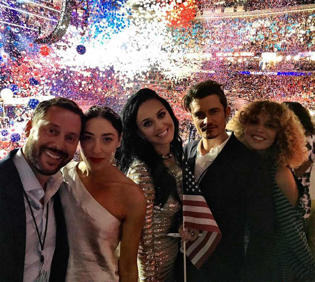 Michael Kives, Mia Moretti, Katy Perry, Orlando Bloom, Cleo Wade