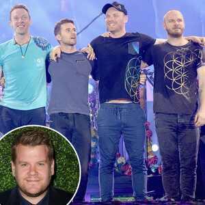 Coldplay, James Corden