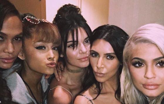 Ariana Grande, Kendall Jenner, Kim Kardashian, Kylie Jenner
