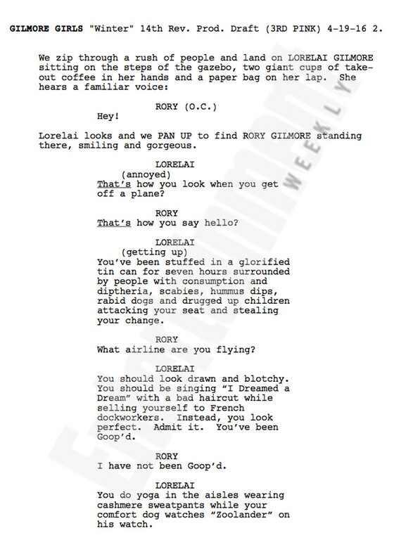Gilmore Girls, script