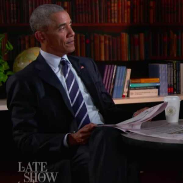 President Barack Obama, Stephen Colbert, The Late Show
