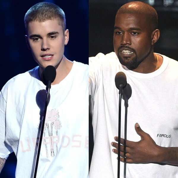 Kanye West, Justin Bieber