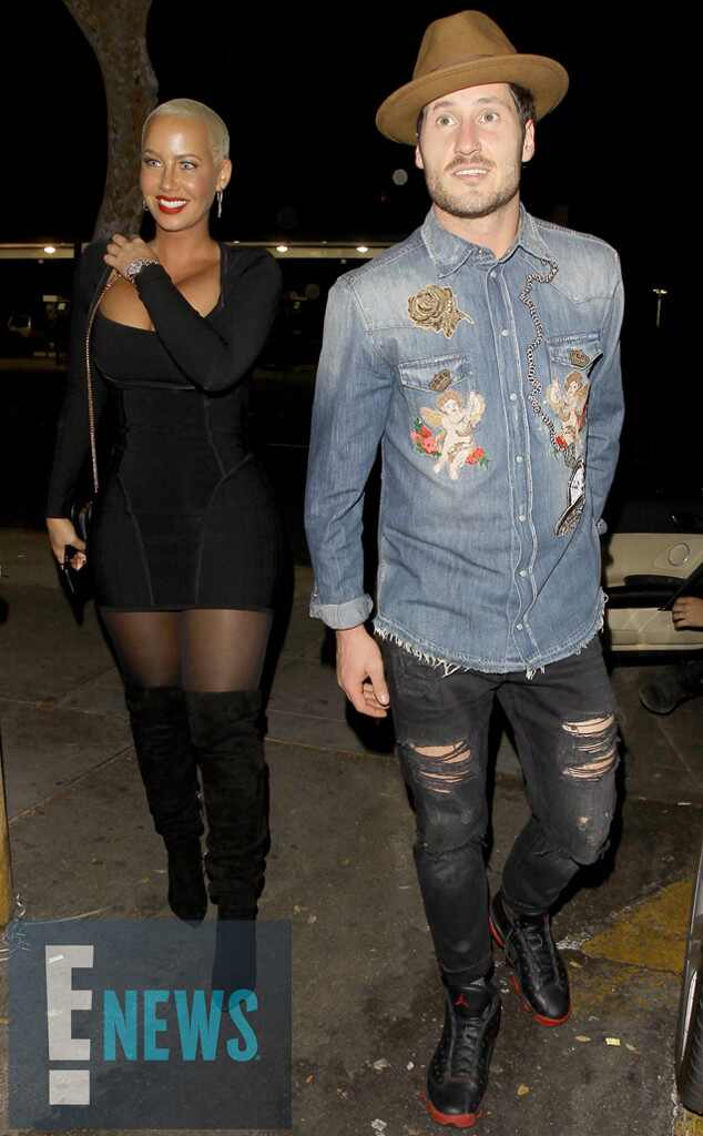 Amber Rose And Val Chmerkovskiy Enjoy A Quiet Date Night