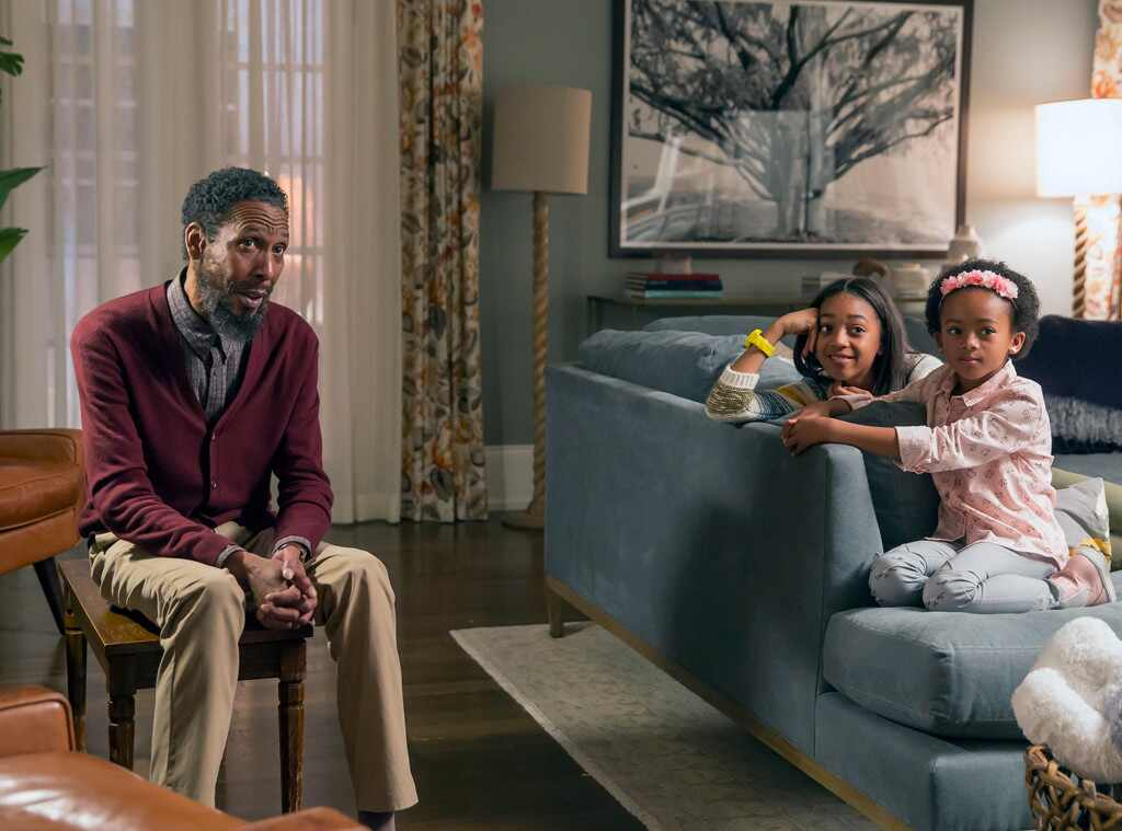 Tree in This is Us living room set.