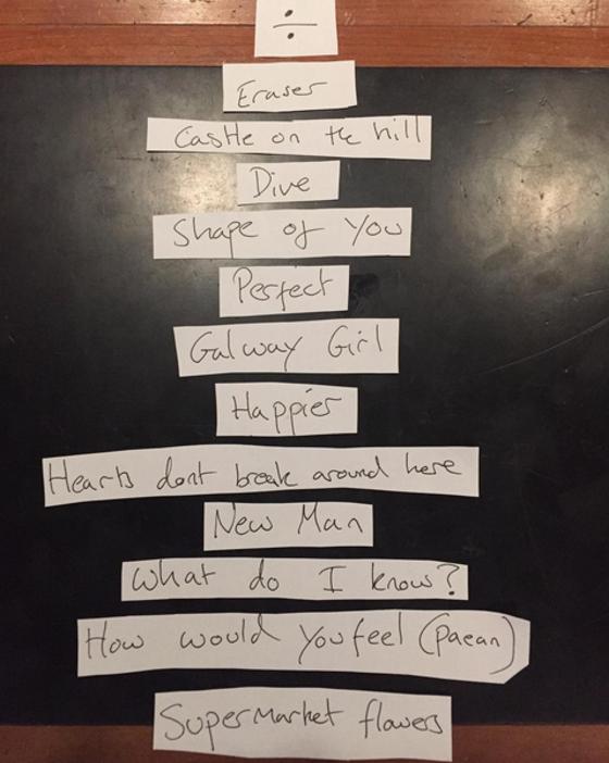 Ed Sheeran divulga lista de músicas do álbum Divide | E