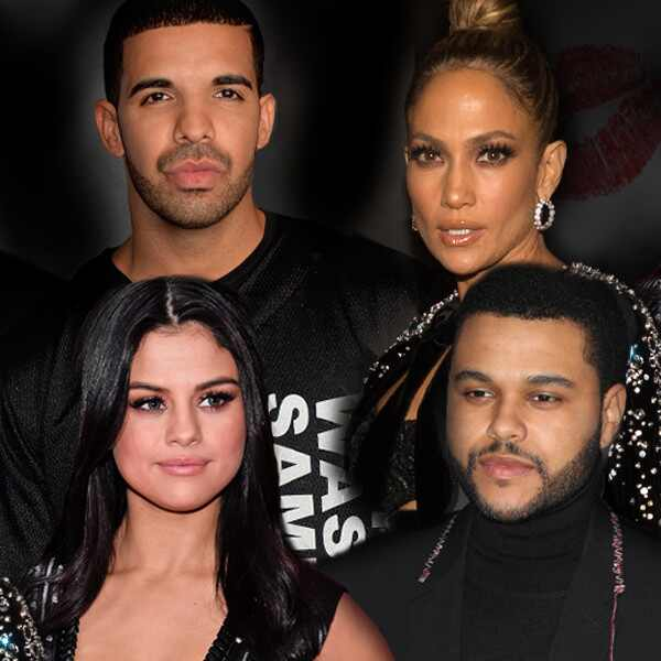Drake, Jennifer Lopez, Selena Gomez, The Weeknd