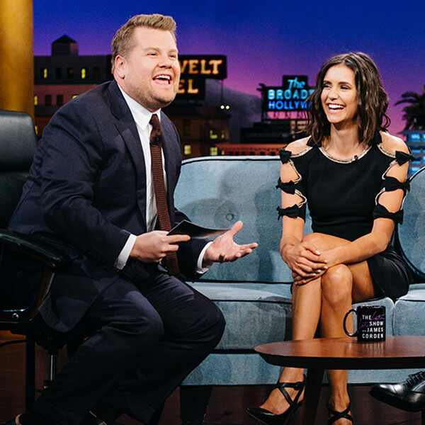 James Corden, Nina Dobrev, The Late Late Show