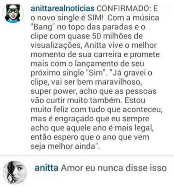 Melhores respostas da Anitta