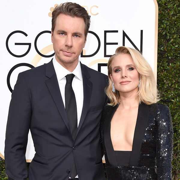 Dax Shepard, Kristen Bell, 2017 Golden Globes, Couples