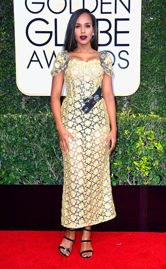Kerry Washington, 2017 Golden Globes, Arrivals