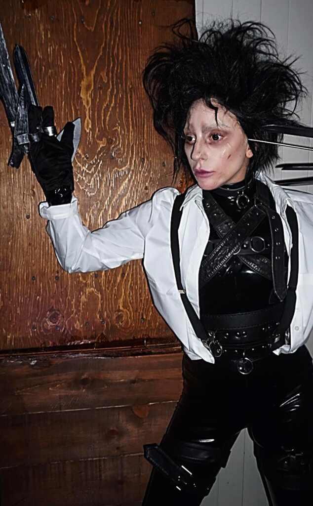 Lady Gaga, Halloween, Edward Scissorhands