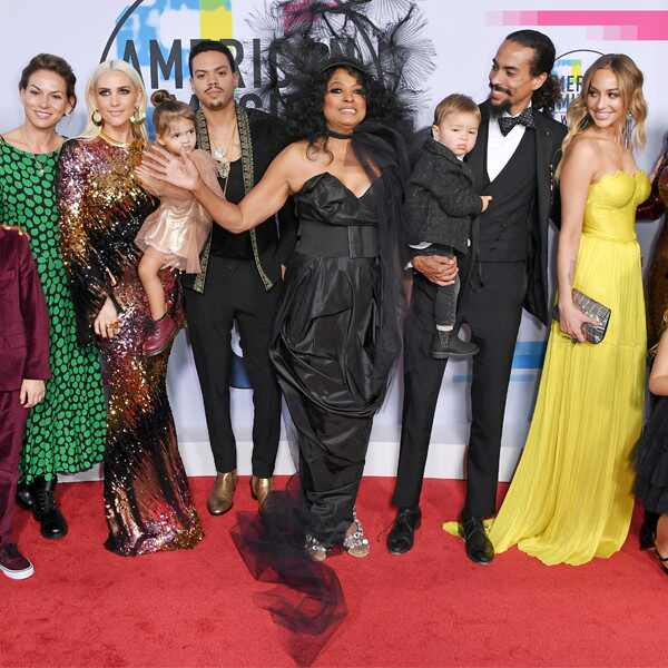 Diana Ross, Evan Ross, Tracee Ellis Ross, American Music Awards 2017, AMAs