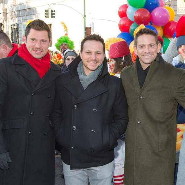 98 Degrees, Nick Lachey, Drew Lachey, Justin Jeffre, Jeff Timmons, 2017 Macy's Thanksgiving Day Parade