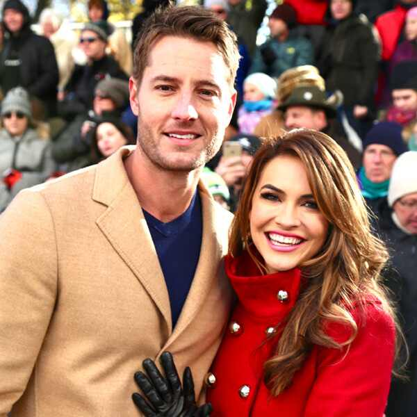 Justin Hartley, Chrishell Stause, 2017 Macy's Thanksgiving Day Parade