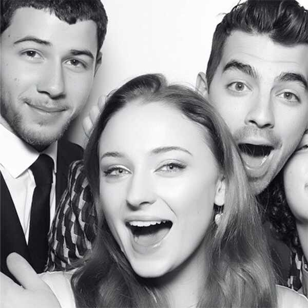 Sophie Turner, Joe Jonas, Nick Jonas, Frankie Jonas, Kevin Jonas, Danielle Jonas, Engagement Party