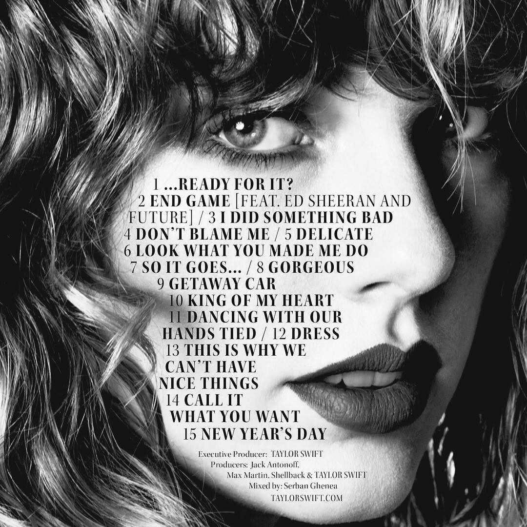 Taylor Swift, Reputation, Instagram