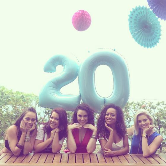 Fernanda Souza, Aretha Oliveira, Francis Helena, Gisele Frade, Renata Del Bianco