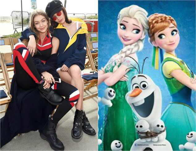 Bella Hadid, Gigi Hadid, Frozen