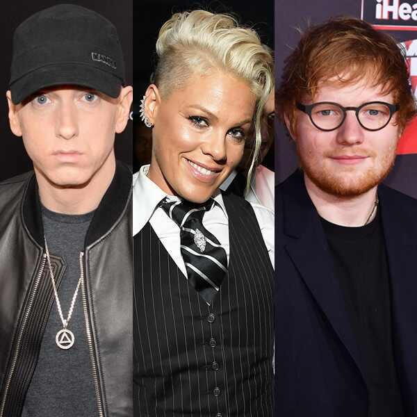 Beyonce. Foto do site da E! Online que mostra Eminem disponibiliza álbum Revival com Beyoncé, Ed Sheeran e Pink