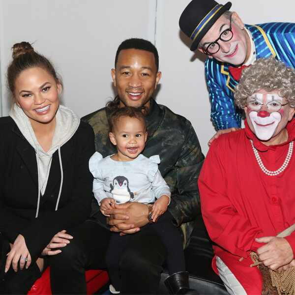Chrissy Teigen, John Legend, Luna, Big Apple Circus