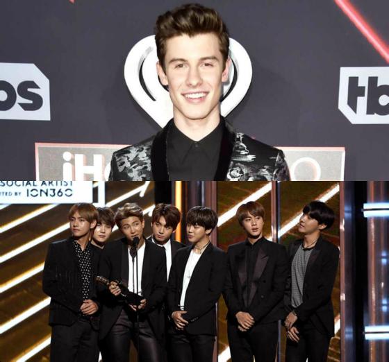 Shawn Mendes diz que gostaria de fazer parceria musical com BTS
