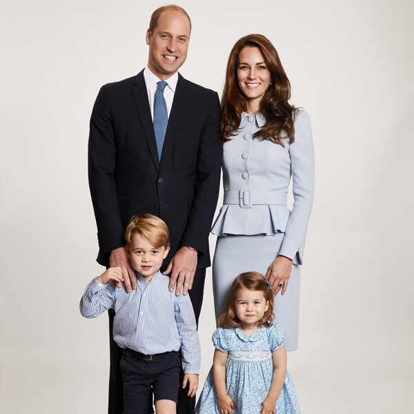 Prince William, Kate Middleton, Prince George, Princess Charlotte, Royal Christmas Card 2017