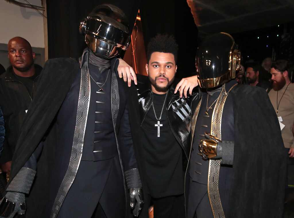 Daft Punk, The Weeknd, 2017 Grammys, Candids