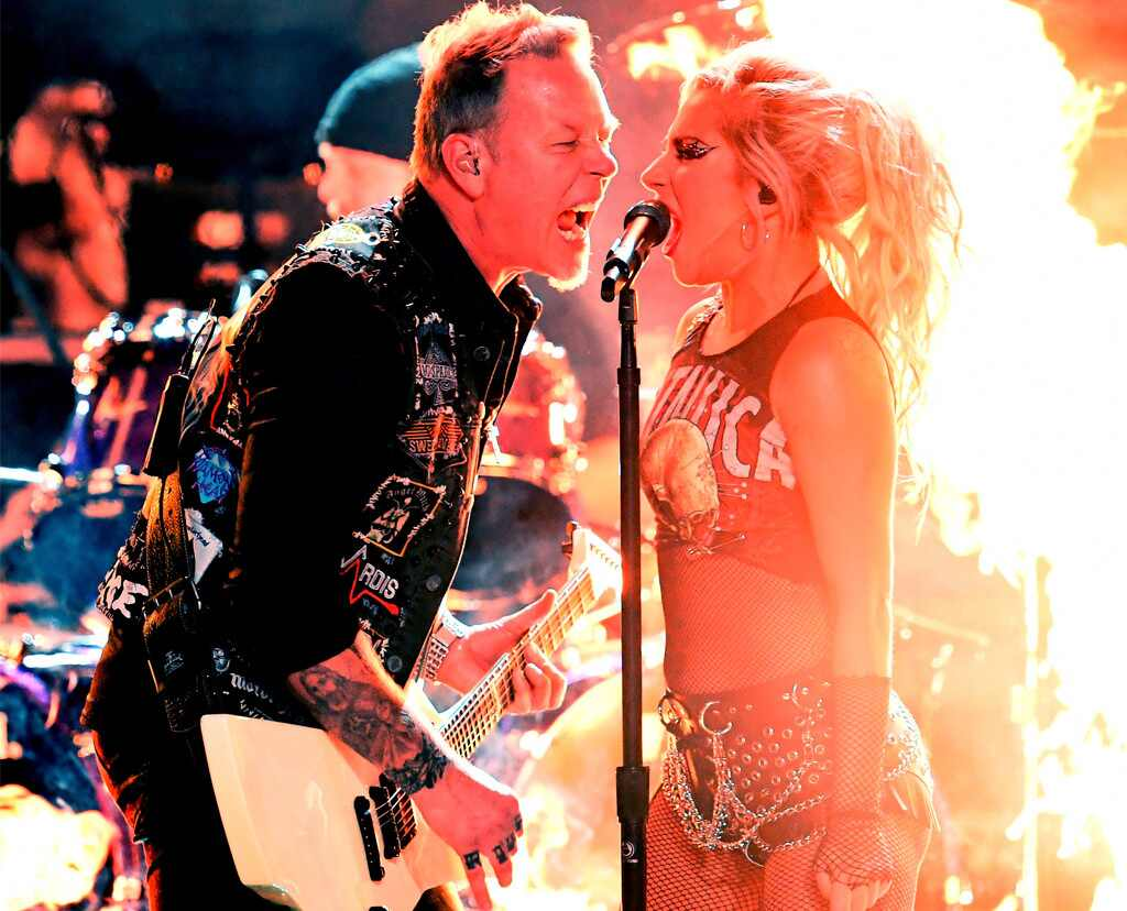 James Hetfield, Metallica, Lady Gaga, 2017 Grammys, Show, Performance