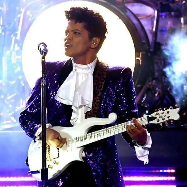 Bruno Mars, Prince Tribute, 2017 Grammy Awards