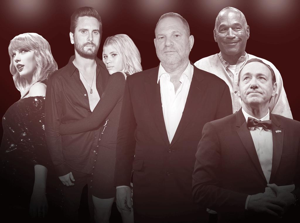 Los 15 momentos más impactantes de Hollywood en 2017