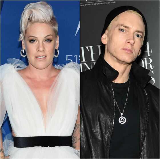 Eminem. Foto do site da E! Online que mostra Pink diz que descartou clipe de música com Eminem