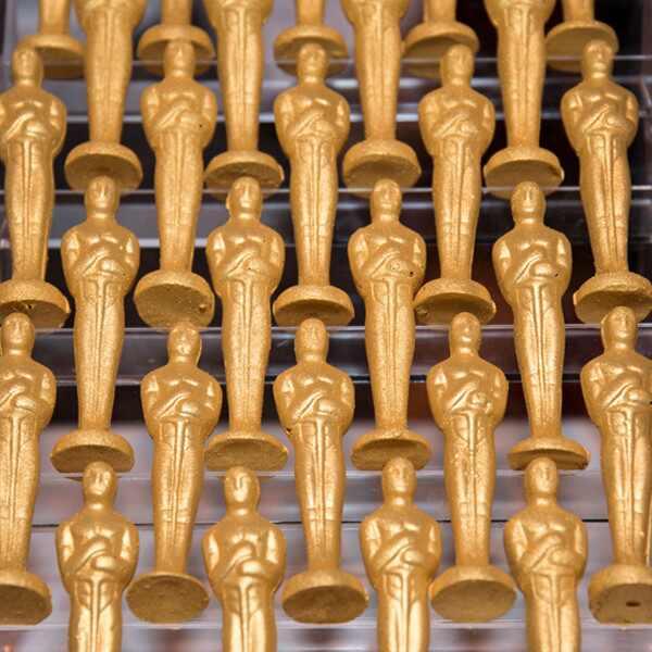 Oscars chocolate statues