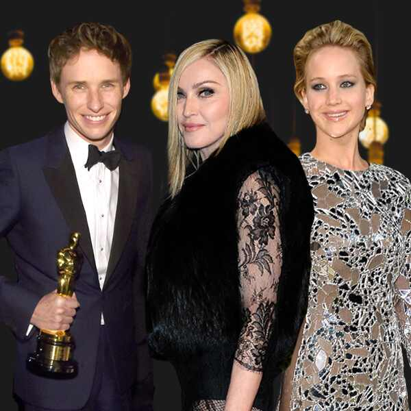 Oscar Parties, Madonna, Ed Sheeran, Jennifer Lawrence, Kelly Ripa, Eddie Redmayne, Sean Combs